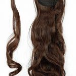 "17"" Queue de Cheval Postiche Extension de Cheveux Ondulé - Wrap Around Ponytail Clip in Hair Extensions - Marron (43cm-120g) de la marque Elailite image 1 produit"