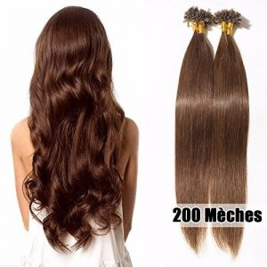 200 Extensions Keratine Extension Cheveux Naturel Pose a Chaud - Pre Bonded Nail U Tip Remy Hair Extensions 200 Mèches/100g (40cm/16 pouces, #04 Marron chocolat) de la marque UK-Fashion-Shop image 0 produit