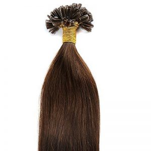 200 Mèches Extension Cheveux Naturel Keratine Cheveux a Chaud Pre Bonded Remy Human Hair Extensions #04 Marron chocolat, 50cm de la marque UK-Fashion-Shop image 0 produit
