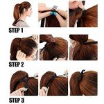 "22"" Queue de Cheval Postiche Extension de Cheveux (Attachée par bandeau) Lisse - Wrap Around Tie Binding Ponytail Extensions - Marron Clair (55cm) de la marque Elailite image 3 produit"