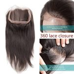 360 Lace Frontal Closure Lisse Tissage Bresilien 8A With Baby Hair 16pouces=40cm 100% Cheveux Humain Naturels Virgin Hair Straight Hair RICHAIR de la marque Richair image 2 produit