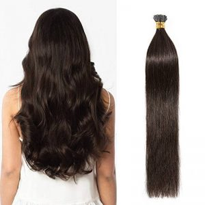 Extension Cheveux Naturel Pose à Froid Marron Foncé Stick Hair Pre Bonded Pas de Shedding Tangle [ 40CM ] [0.5g*100 Mèches][ Marron Foncé ] de la marque Lady Outlet Mall image 0 produit