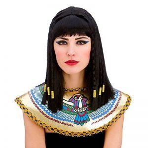 Ladies Cleopatra Wig with Fringe and Gold Braiding Egyptian Fancy Dress by Wicked Wicked de la marque Wicked Wicked image 0 produit